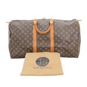 Louis Vuitton Keepall 55 Boston Brown Monogram Can